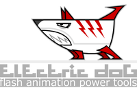 electric dog :: flash animation power tools logo